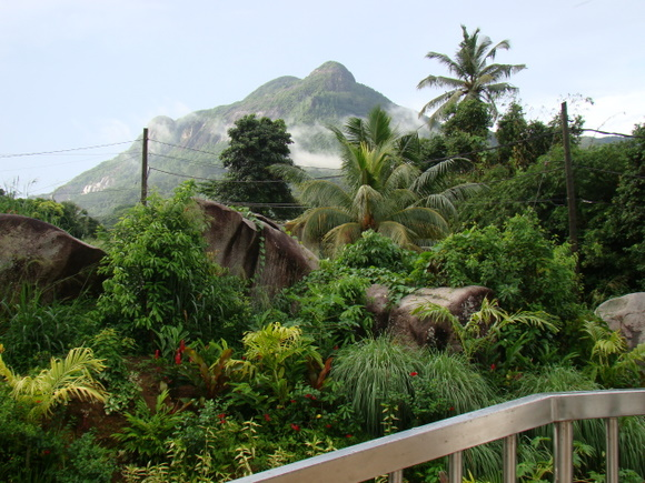 Tropical gardens and moutain-view form part of the tranquil surroundings of Hanneman Holiday Residence.